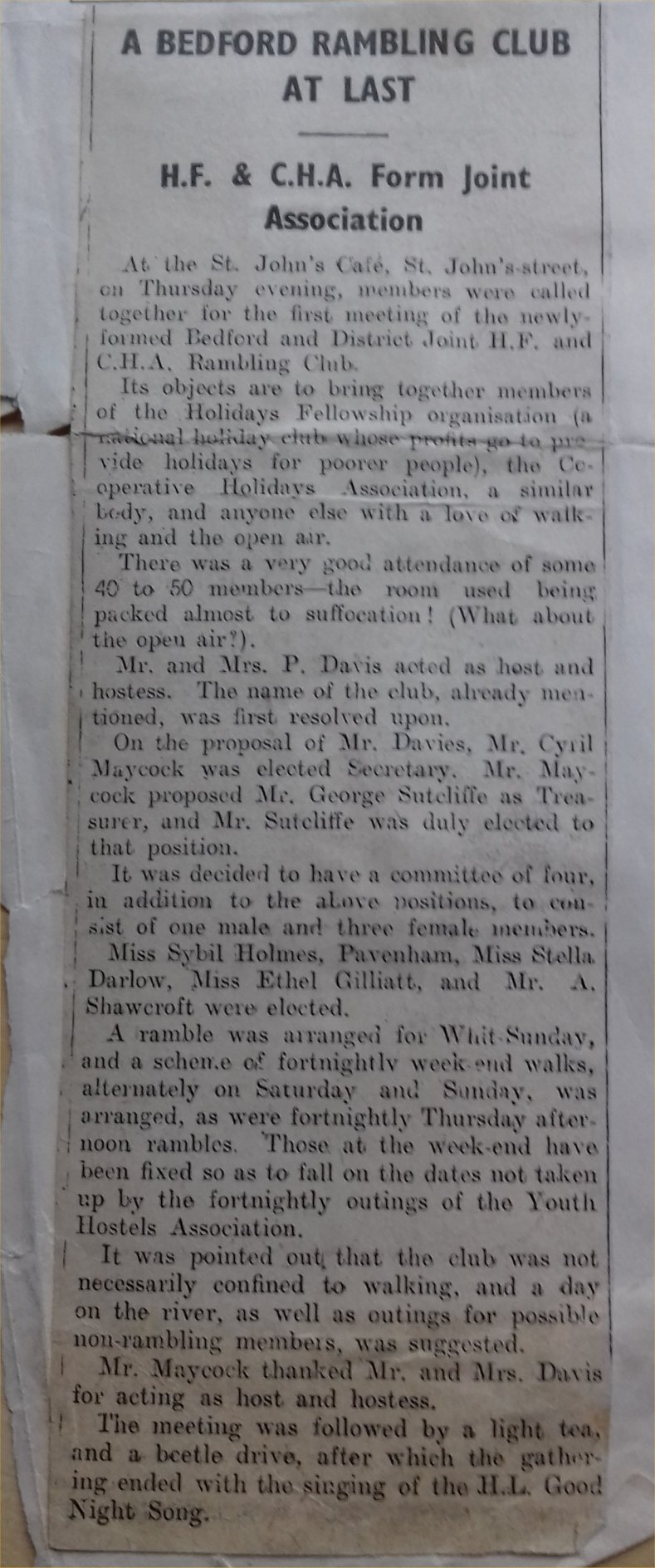 001 press cutting first meeting